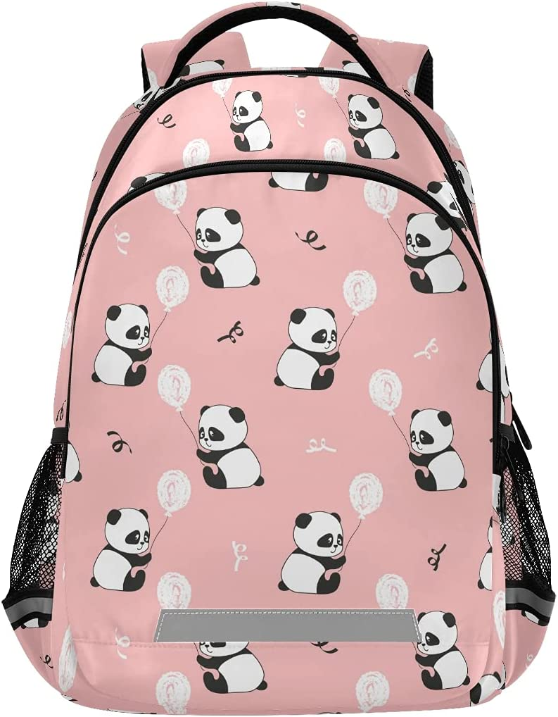 School Backpack with Chest Strap Panda Lapt Purchase Balloons Cute Fort Worth Mall Bears