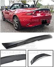 Extreme Online Store Replacement for 2016-Present Mazda Miata MX5 MX-5 ND JDM Leg Sport Style Fiberglass Primer Black Rear Trunk Lid Duckbill Wing Spoiler