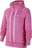 Nike Girl's Sportswear Jersey Printed Jacket (Laser Fuchsia/White, X-Large)