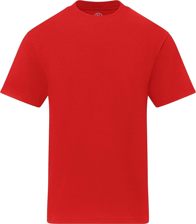 Enkalda Men's Premium Heavyweight Crew Neck T-Shirt