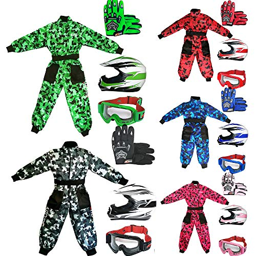 Amazon.es: Leopardo leo-x16 Kids Niño Motocross Moto * verde ...