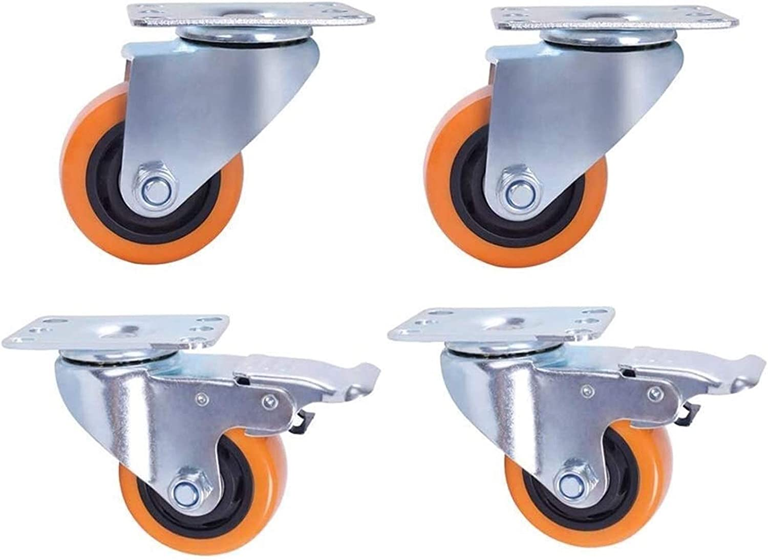 Casters Special price 4pcs Furniture 3 4Inch Wheels Du Wear-Resistant New life Heavy PU