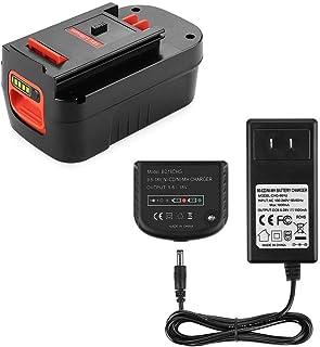 Powilling 5.0Ah 18V batería de iones de litio HPB18 compatible con Black and Decker HPB18 HPB18-OPE 244760-00 A1718 FS18FL FSB18 Firestorm batería negra y Decker 18 voltios batería incluye cargador