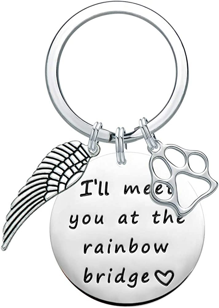 Pet Memorial Gifts Personalized Keychain - Loss of Pet Dog Sympa