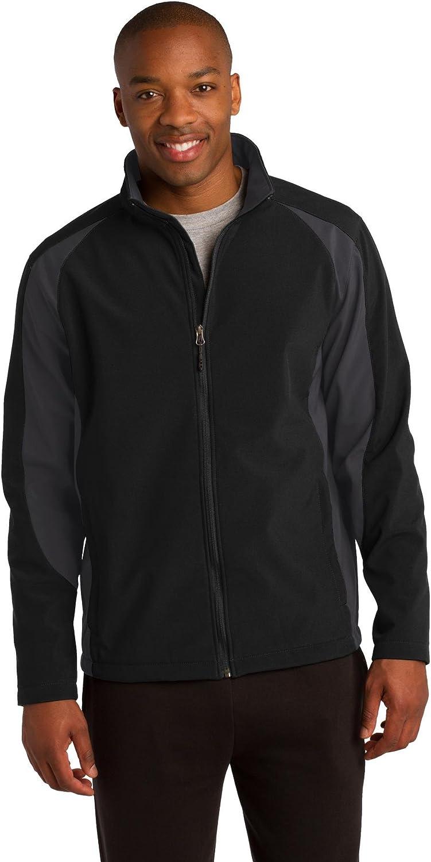 Sport-Tek Mens Colorblock Soft Shell Jacket