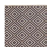 Teppich Wölkchen Outdoor-Teppiche für Draußen   Balkon Terrasse Garten Küche   Wetterfest Wasserfest und UV-Beständig mit ÖKO-TEX 100   Jeans Blau - Raute - 120 x 170 cm - 3
