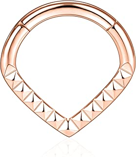 AROWRO Helix Rook Earrings Nose Hoop Sleeper Earring 8mm 16G 316L Surgical Steel Daith Cartilage Tragus Piercing Jewelry S...