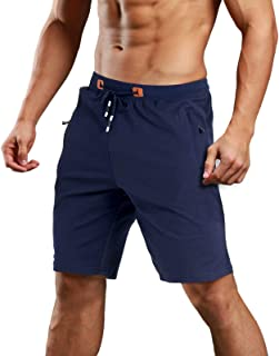 MAGCOMSEN Men's Workout Running Shorts Zipper Pockets Quick Dry Wicking Moisture Athletic Gym Shorts