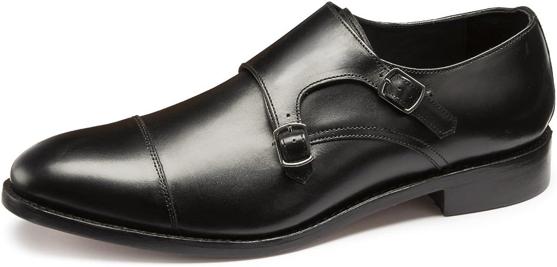 Samuel Windsor Men's Leather Prestige Twin Monk Goodyear Welted Construction
