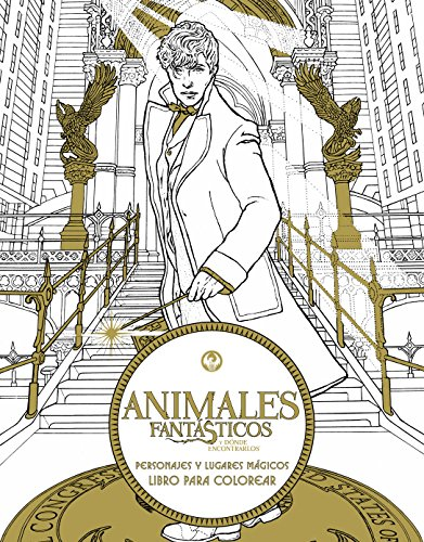 Animales fantásticos y dónde encontrarlos: personajes y lugares mágicos. Libro para colorear (HARPERCOLLINS)