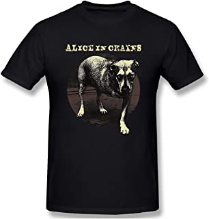 Men's Alice in Chains 'Three Legged Dog' Fashion T-Shirt Black with Short Sleeve
