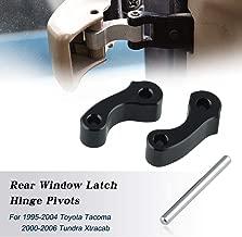 Ruien Aluminum Rear Window Latch Hinge Pivots for 95-04 Tacoma 00-06 Tundra Xtracab Black