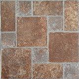 Bricks Stone Vinyl Floor Tiles Self Stick Peek Flooring 12'' x 12''...