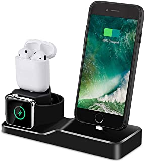 Charging Stand for Apple Watch, Tendak 3 in 1 Silicone Charging Dock Station for AirPods, 38mm and 42mm Apple Watch Series...