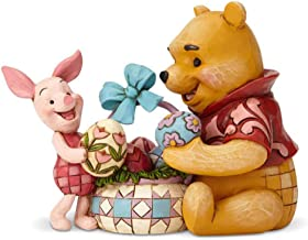 enesco 置物 Pooh and Piglet Easter W8.9×H12×D16cm Disney Traditions 6001283