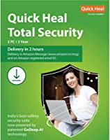 Quick Heal Total Security Latest Version - 2 PCs, 3 Years (Email Delivery in 2 hours- No CD)