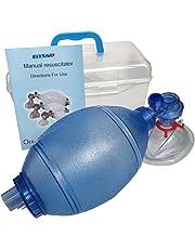 JTKENS PVC(ポリ塩化ビニル)成人用/子供用/幼児用トレーニングバッグバルブマスク(プラスチック製キャリーケース入り) (大人)