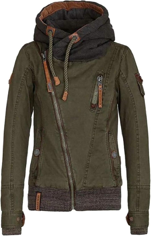 Gocgt Women Side Zipper Casaul Hoodies Long Sleeve Sweatshirt