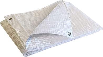 Lona de pel/ícula de pl/ástico PVC Impermeable Transparente con Ojal de Metal A Prueba de Viento y c/álido//contra Rayos UV//Lluvia//Nieve Exterior Cubierta Universal NOEzyf Cubierta de Lona