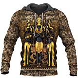 Takra Gold Pharaoh Hoodie Sweatshirt Men Women Shirts (Ancient Egypt Hoodie, M)