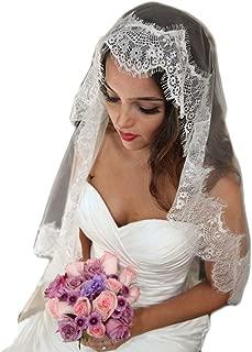 Bridal Wedding Veil Bling 1 Tier 2 Tier Elegant White Veil For Women With Lace Edge