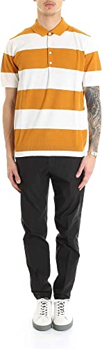 Paolo Pecora Homme A016F1000100 Orange Coton Polo