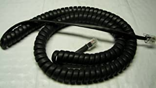 25 Pack of Black 12 Ft Handset Cords for Mitel IP Phone 5200 5300 Series 5205 5207 5212 5220 5224 5235 5240 5302 5304 5312 5320 5324 5330 5360 5320e 5330e 5340 5340e Curly Coil Lot by DIY-BizPhones
