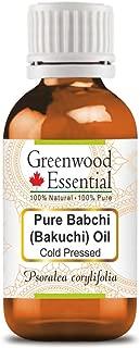 Greenwood Essential Pure Babchi (Bakuchi) Oil (Psoralea corylifolia)100% Natural Therapeutic Grade Cold Pressed 100ml (3.38 oz)