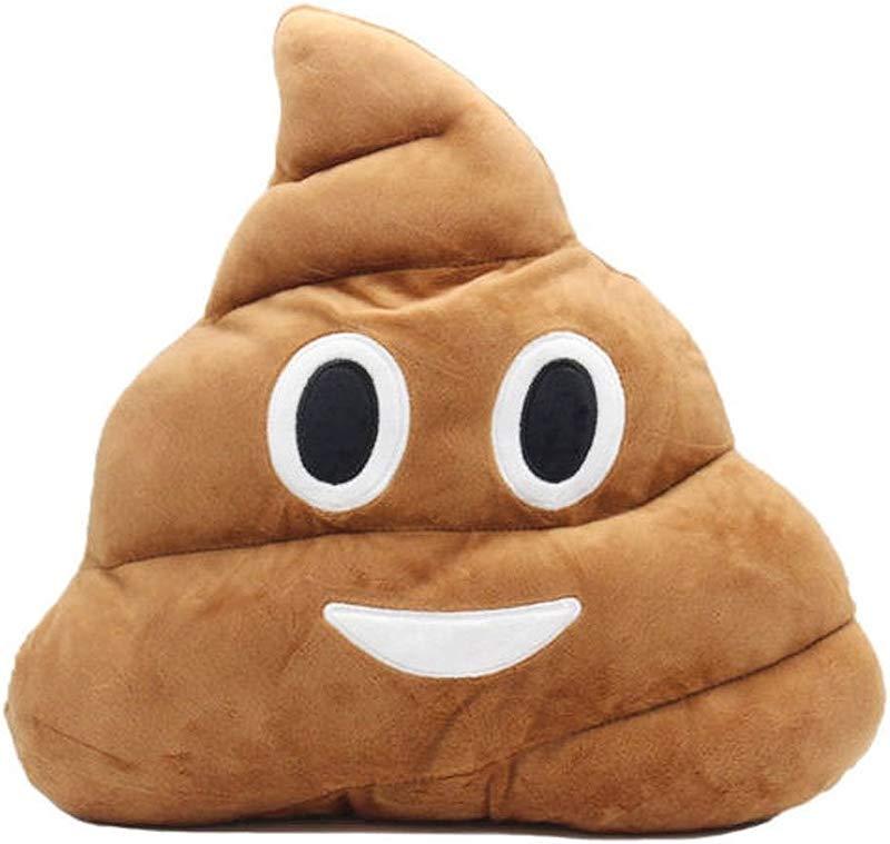 The Elixir Emoji Smiley Emoticon Round Cushion Stuffed Plush Soft Pillow Toy Lovely Poop