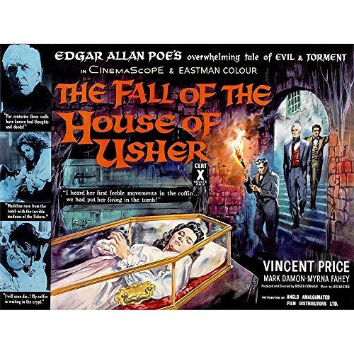 Wee Blue Coo Fall House Usher Edgar Allen Poe Horror Drama Price USA Art Print Poster Wall Decor 12X16 inch