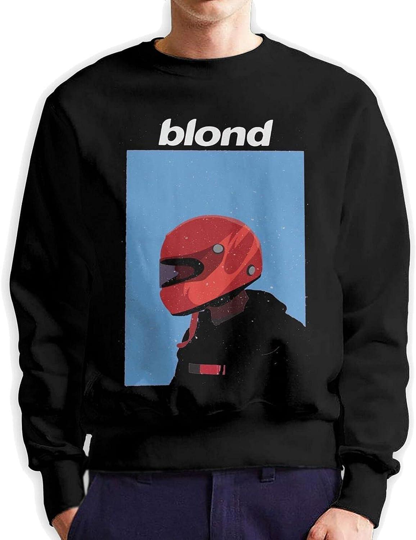 Blond Frank Ocean Mens Long Sleeve Printed Sportswear Cotton Black