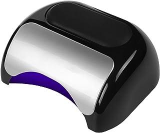 UV LED Secador de Uñas, 48W Lámpara Gel Esmaltes Uñas, Juego Luz Uñas Profesional con Sensor Automático 3 Temporizadores, 21 Cuentas Lámpara LED para Esmaltes Geles + 1 Lámpara CCFL,Negro