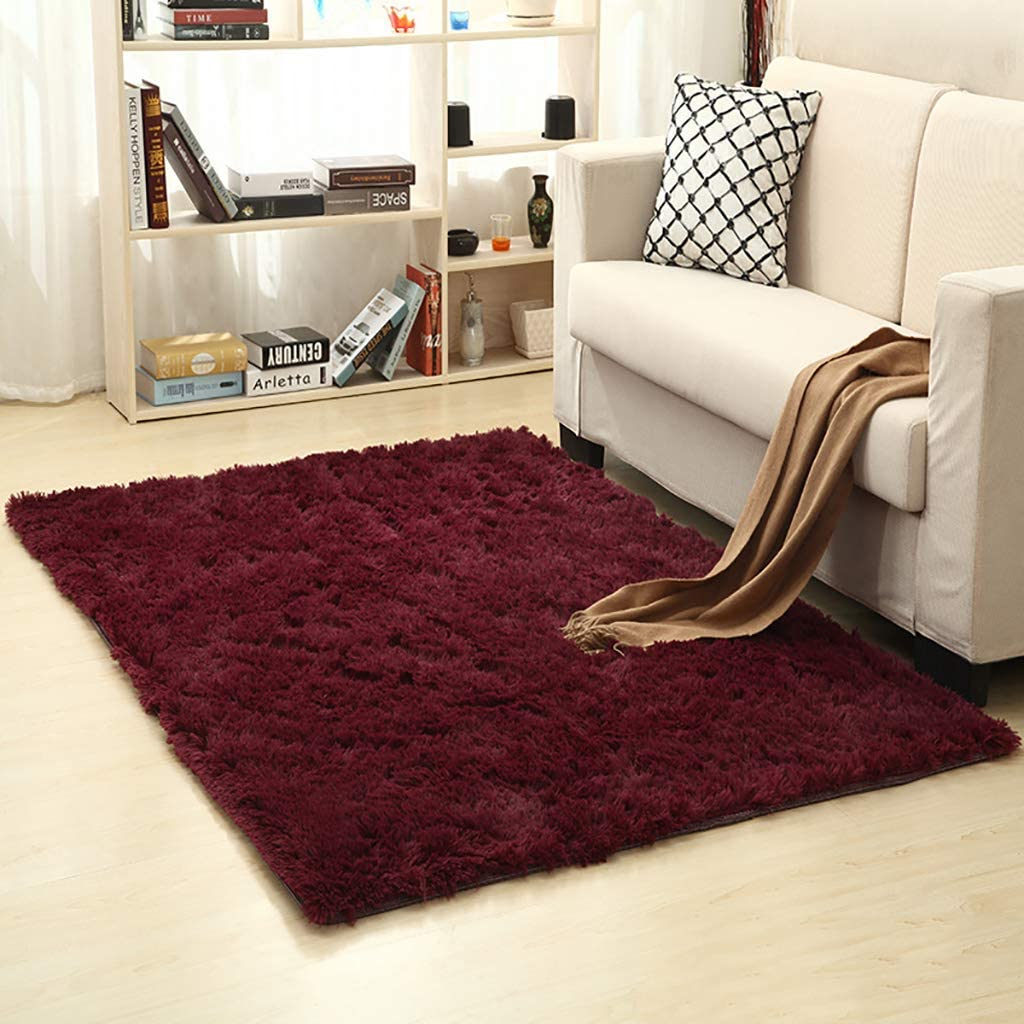Area Rug Solid Color Shag Soft 70%OFFアウトレット Large ついに入荷 Rectangle High Carpet Pile