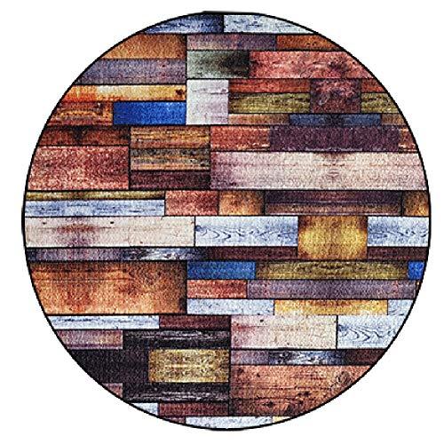 16LYP Ronda de Alfombra de la Sala Dormitorio Armario Decoración Antideslizantes bajo Desgaste Pila Resistente, 3 Estilos (Color : A, Size : Diameter -120cm)