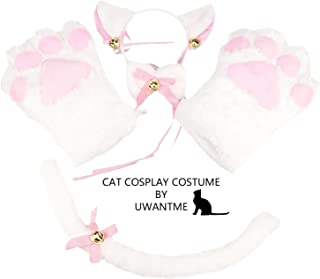 cosplay cat ears tail and paws