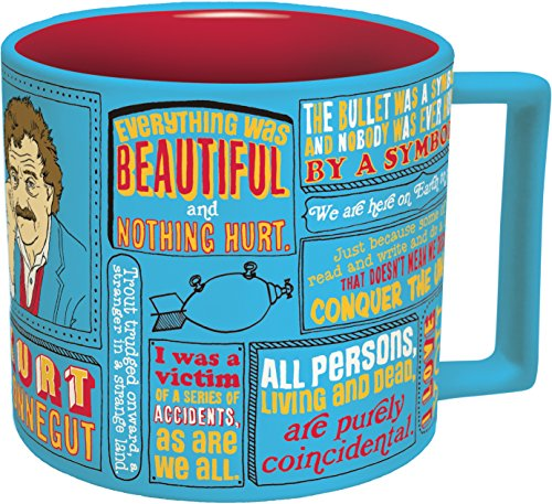 The Unaged Philosophers Guild Kurt Vonnegut Tasse, Blau, ca. 400 ml