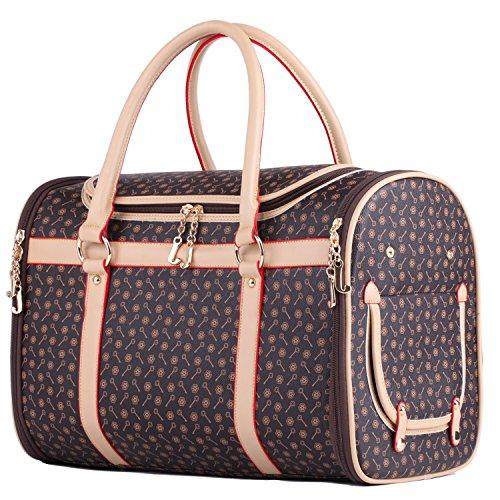 BELLAMORE GIFT Groß Transporttasche Hundetasche für 3-5kg Hunde und Katzen Hundebox Katzentasche sehr parktisch 43x30x23cm