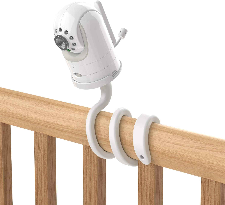 Aobelieve Flexible Mount for Infant Optics DXR-8 and DXR-8 Pro Baby Monitor, White