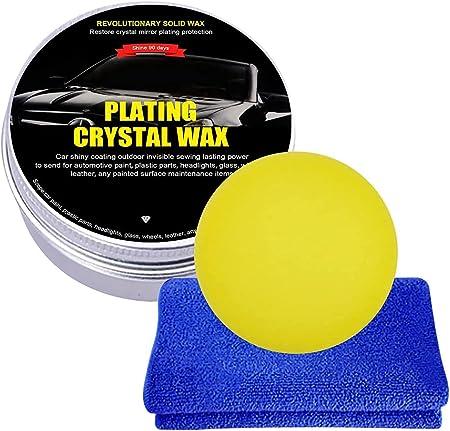 Car Wax Crystal Plating Set Car Coating Wax Hard Glossy Wax , Car Scratches Repair Wax for Car Scratches Fast Repair Coating Care (Black, 1PC): image