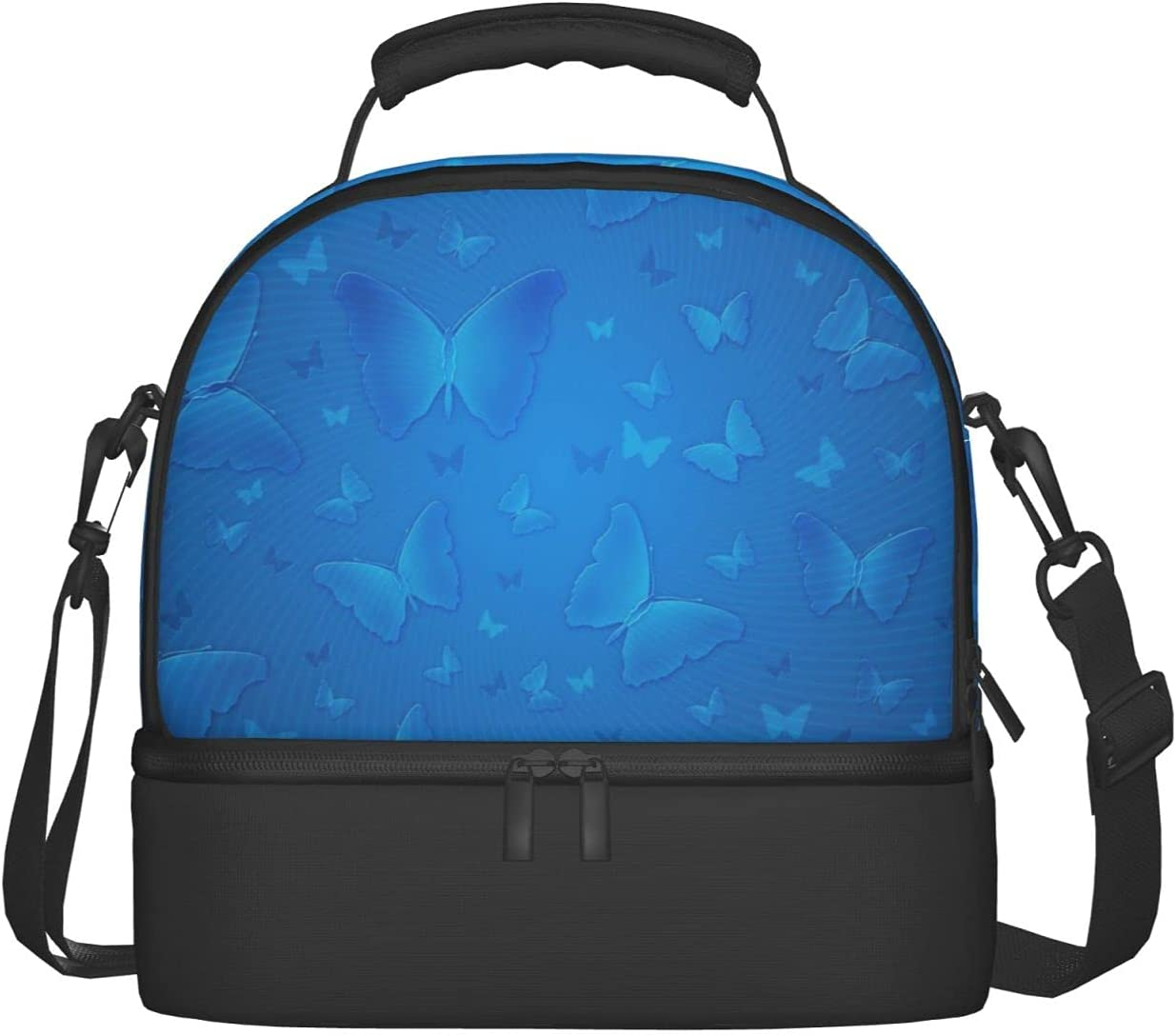 Butterfly Graphic Spring new work Lunch Mesa Mall Bag Shoulder Strap Insulated Adjustable
