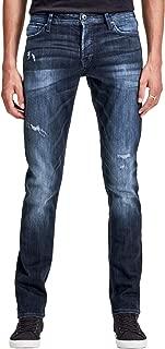 Men's Glenn Slim Fit Stretch Ripped Distressed Jeans