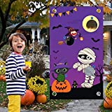 Funnlot Halloween Toss Game Outdoor Halloween Games for Kids Halloween Party Activities Halloween Party Games with 3 Bean Bags Halloween Party Decorations for Kids and Adults