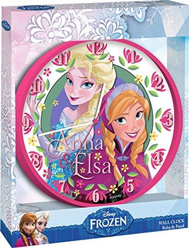 Kids Euroswan Horloge Murale Modèle la Reine des neiges Multicolore 20 x 5 x 30 cm
