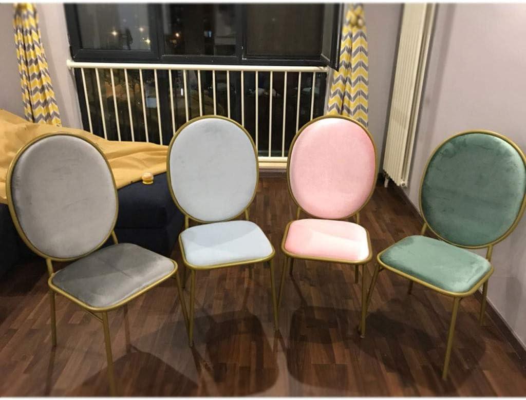 SLL- Chaise de Maquillage Moderne Minimaliste Coiffeuse Tabouret Salle à Manger Chaise Chaise de Dossier de Chambre Moderne (Color : E) E