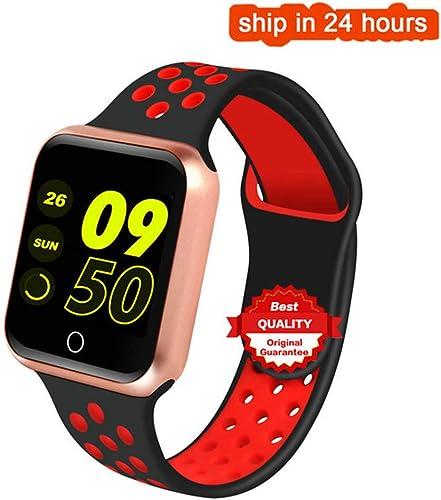 ZLOPV Montre Intelligente Bracelet Smart Fitness Mesure de la Pression artérielle Moniteur de fréquence Cardiaque Montre Smart Watch Bracelet Couleur pour Android iOS