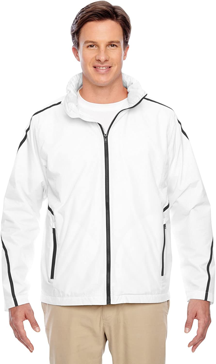 TEAM 365 Conquest Jacket with Fleece Lining (TT72) White, XS