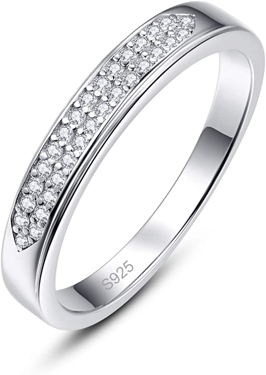 Merthus Half Eternity Clearance SALE! Limited time! Jewelry CZ Silver Genuine Stackable 925 Sterling W