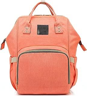 DRENECO Maternal And Child Package Women Oxford Cloth Backpack PU Leather Backpack Ladies Fashion Backpack Travel Bag Women Backpack Handbag Shoulder Bag