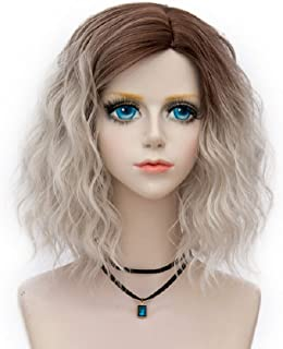 Probeauty Swinger Collection Two Tone Ombre Wig Curly Hair Party Costume Wigs Women Cosplay Wig Heat Resistant