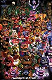 unity One Poster FNAF-Ultimate Group Mount Bundle Wall 12 x 12 inches Rolled